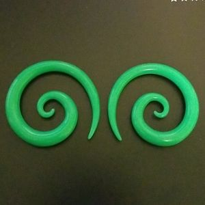 0g Green Spiral Tapers